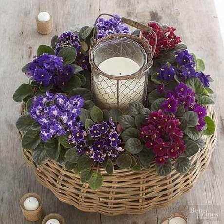 32- Decore a casa com violetas. Fonte: Pinterest