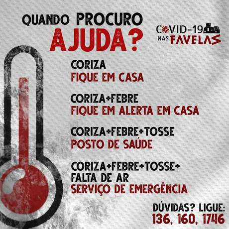 Comunicados orientam população nas favelas sobre o novo coronavírus