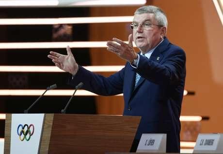 Presidente do COI, Thomas Bach prometeu definição rápida de datas do megaevento (Foto: AFP)