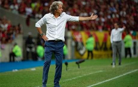 O português Jorge Jesus no comando do Flamengo (Foto: Alexandre Vidal / Flamengo)