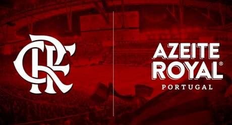 Flamengo apresentou a parceria com o Azeite Royal em setembro de 2019 (Foto: Divulgação)