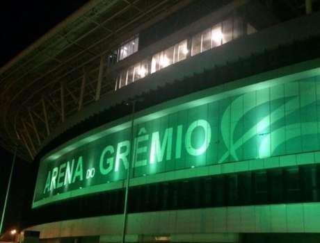 Arena do Grêmio está com uma iluminação nova (Foto: Divulgação)