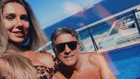 Carol Portaluppi aproveita quarentena ao lado do pai - Reprodução/Instagram