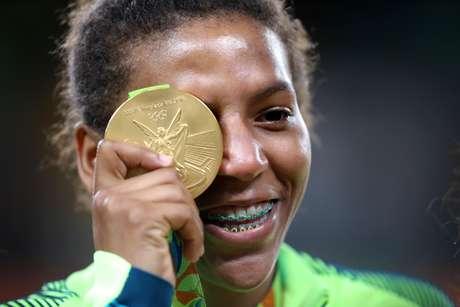 Campeã olímpica, a judoca Rafaela Silva está suspensa po doping
