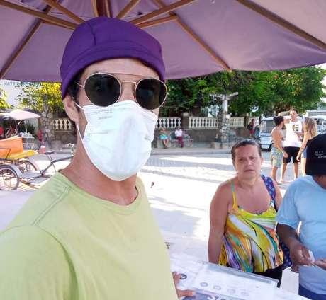 Renato já vinha se protegendo antes da confirmação de um caso de infectado por coronavírus na Ilha de Paquetá, no Rio