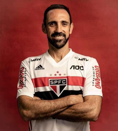 Juanfran, lateral do São Paulo, é um dos barbudos do futebol brasileiro (Foto: Divulgação/Instagram)