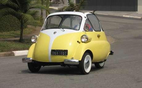 Romi-Isetta: primeiro carro nacional, mas não teve incentivo do governo porque só tinha uma porta.