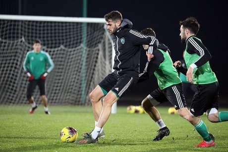 Jogador da Udinese, Vizeu está emprestado ao Akhmar Gorzny, da Rússia, por um ano (Foto: Divulgação)