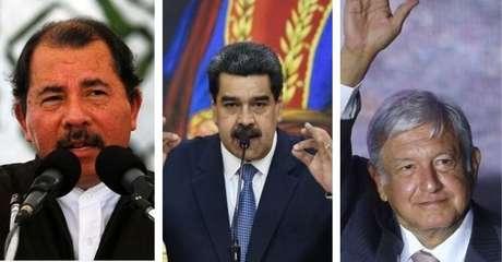 Os presidentes Daniel Ortega, Nicolás Maduro e Andrés Manuel López Obrador questionaram ameaça do novo coronavírus
