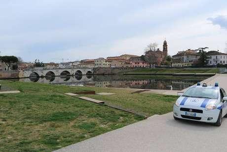 Rimini, assim como todas as cidades italianas, está sob quarentena obrigatória