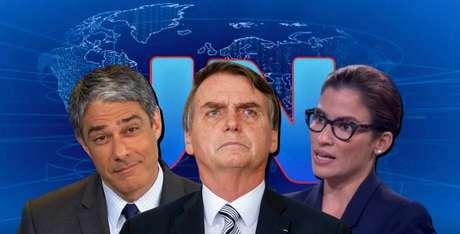 No front de guerra do JN: Jair Bolsonaro nunca esteve tão na mira do telejornal comandado por William Bonner e Renata Vasconcellos