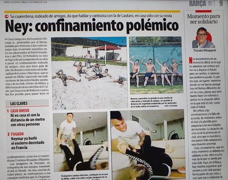 Quarentena de Neymar é alvo de críticas da imprensa catalã (Foto: Reprodução)
