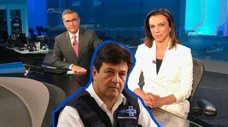 Sob o comando de Ana Paula Araújo e do estreante na bancada Helter Duarte, o JN fez dura crítica a Mandetta na edição de sábado (28)