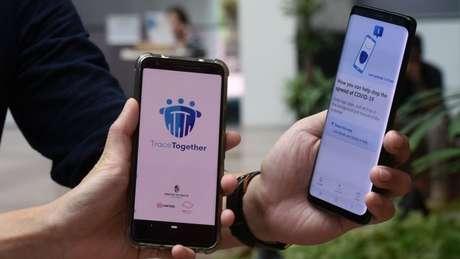 Em Cingapura, um aplicativo informa o que você deve fazer se entrou em contato com alguém com suspeita de covid-19