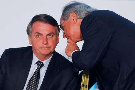 Bolsonaro e Guedes participam de evento em Brasília, em dezembro do ano passado 11/12/2019 REUTERS/Adriano Machado