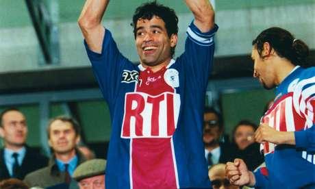 Raí defendeu as cores do Paris Saint-Germain entre os anos de 1993 e 1998 (Foto: Divulgação/PSG)