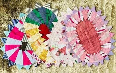 54. Diferentes modelos de tapete de retalhos. Fonte: Mercado Livre