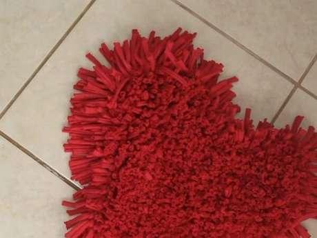 72. Forme um lindo coração com tapete de retalho. Fonte: Pinterest
