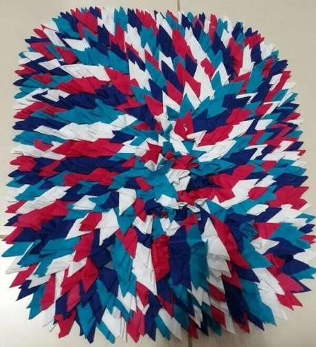 53. Misture diferentes tons quando for criar um tapete de retalhos. Fonte: Ana Claudia Koury