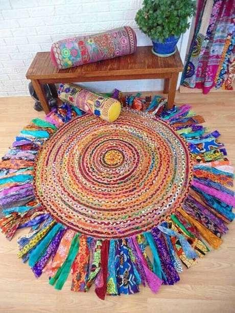 7. Modelo de tapete de retalho de malha. Fonte: Pinterest