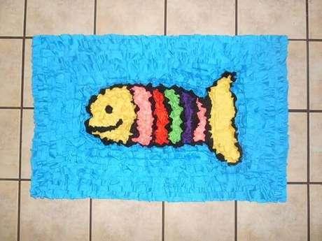28. Tapete de retalho fofo em formato de peixinho. Fonte: Pinterest
