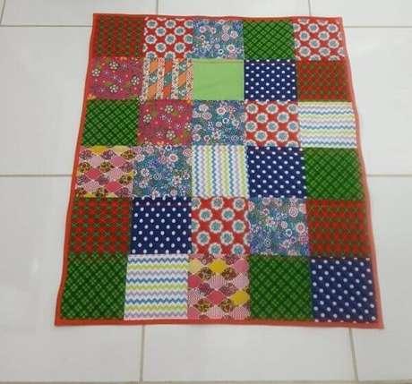 24. Tapete de retalhos de patchwork. Fonte: Pinterest