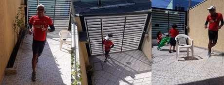 Sidnei Santos correu uma maratona no seu quintal