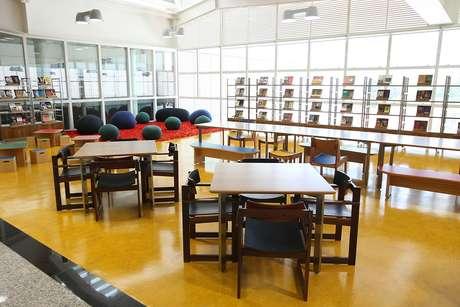 Biblioteca do Sesc Santo Amaro, em São Paulo.