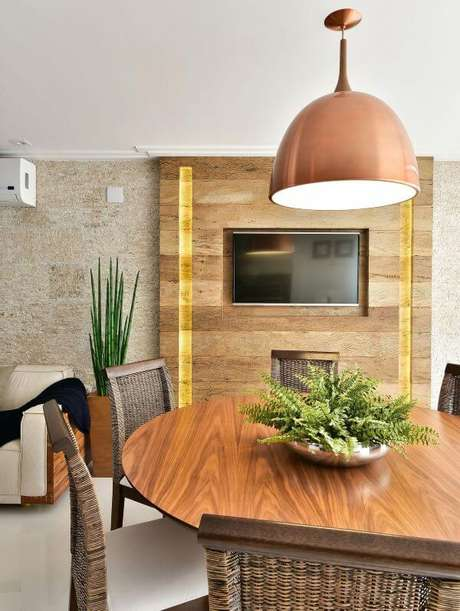 25. Varanda com painel para tv embutida – Projeto: Tetriz Arquitetura
