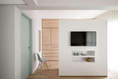 30. Escolha o melhor painel para tv – Projeto: Am Studio Arquitetura