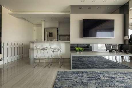 41. O painel para tv pode ser usado em todos os ambientes da casa – Projeto: Lam Arquitetura