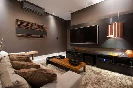 54. Painel para tv de madeira – Projeto: Rita Carrasco
