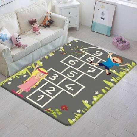 29. Tapete infantil de atividades é criativo e estimulante – Foto: Via Pinterest