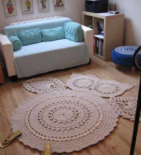 30. Tapete de crochê abre diversas opções e é muito criativo – Foto: Casa e festa