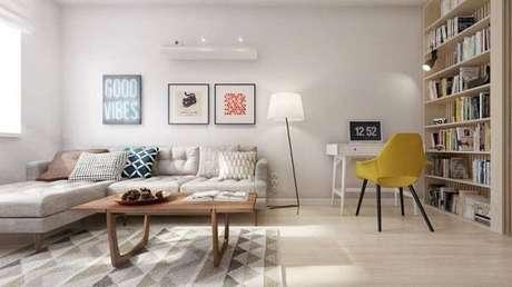 51. Tapete também pode ser neutra na decoração sem perder sua beleza – Foto: Tllita Lisboa blog
