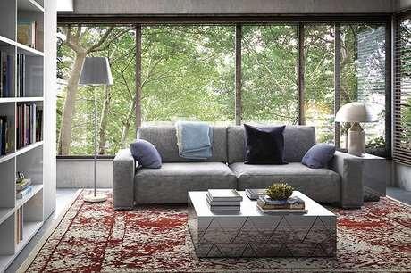 52. O tapete para o ambiente só agrega e reforça seu gosto pessoal na decoração – Foto: Via Pinterest