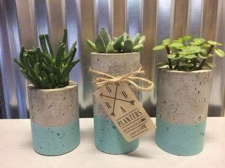 16. Vasos de cimento também podem ser personalizados – Artesanato passo a passo