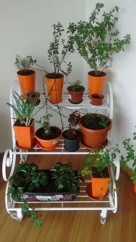36. Vasos de suculentas são ótimas para o cultivo interno – Foto: Via Pinterest
