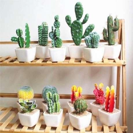 3. Os mini vaso para suculentas são perfeitos para criar um jardim interno com diferentes espécies – Foto: Via Pinterest