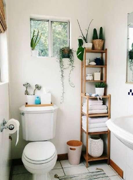 48. Até mesmo um banheiro pode ser o local perfeito para sua suculenta – Foto: Via Pinterest