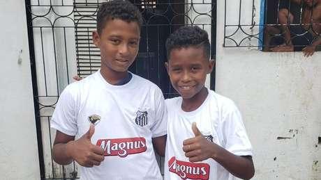Santos chama Caio e Caique para teste (Foto: Reprodução/Twitter SFC)