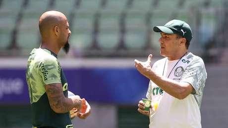 Capitão do Palmeiras, Felipe Melo exalta qualidade e currículo do técnico Vanderlei Luxemburgo (Agência Palmeiras)