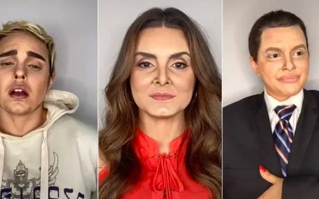 Transformações de Letícia Gomes em Justin Bieber, Fátima Bernardes e Silvio Santos