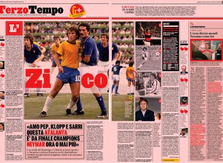 Zico cobrou profissionalidade de Neymar (Foto: Reprodução)