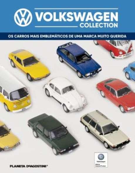 Capa da coleção de miniaturas: um fascículo por quinzena e 60 carros na coleção.