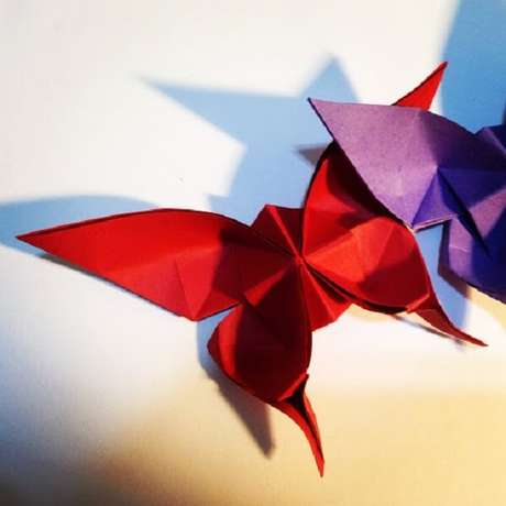 37. Borboletas de origami maiores – Foto: Arte com origami