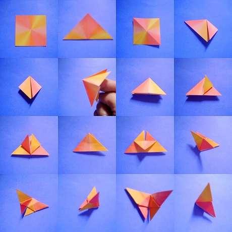 6. O seu passo a passo de como fazer o origami fácil – Foto: Via Pinterest