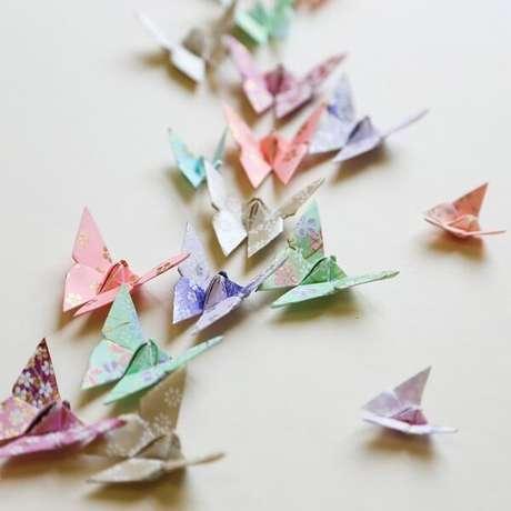 5. O origami fácil borboleta significa transformação – Foto: Via Pinterest
