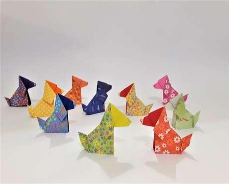 32. Usar diferentes folhas deixam seu origami mais criativo – Foto: Via Pinterest