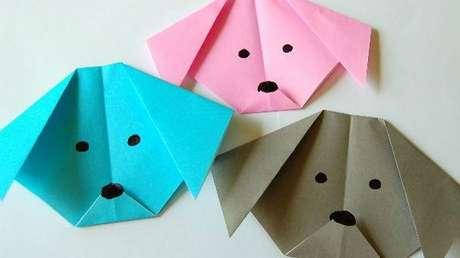 31. Cachorros em diferentes cores no origami – Foto: Via Pinterest